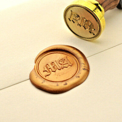 Initials Wax Stamp, Wedding Invitation Wax Seal, Custom Made Sealing - Custom Made Invitations