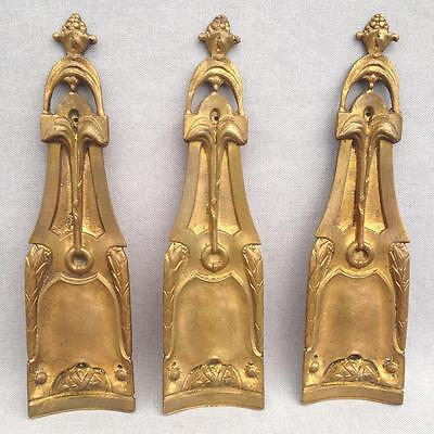 3 big antique furniture ornaments made of ormolu France 19th century Empire
