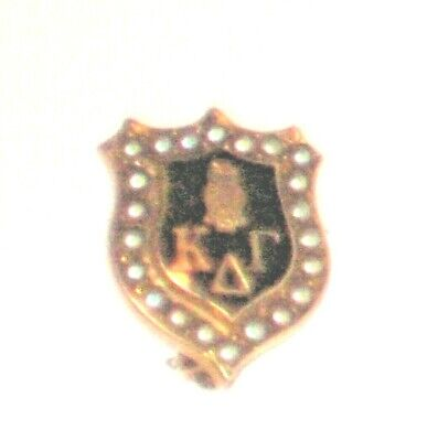 SORORITY PIN KAPPA DELTA GAMMA.Drexel College MADE USA GOLD.  MARKED MLW