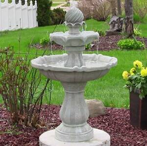Solar Powered 2-Tier Bird Bath Water Fountain Padstow Bankstown Area Preview