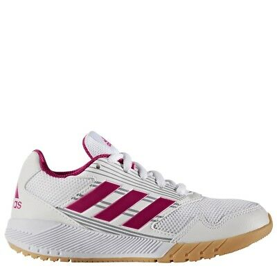n K Hallenschuhe Sportschuhe Mädchen weiß/pink [BA9427] (Mädchen Weiß Schuhe)