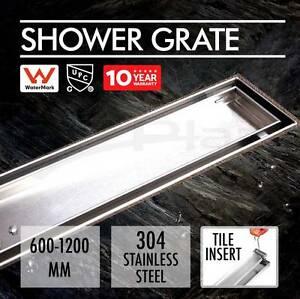 1000mm Stainless Steel Shower Grate - Tile Insert Style Tempe Marrickville Area Preview