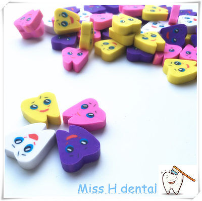 50pcsbag Molar Shaped Tooth Rubber Erasers Dentist Dental Clinic Gift