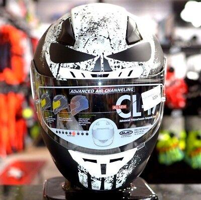 ALL NEW HJC CL-17 Marvel PUNISHER MC-5 WHT/BLACK Street Motorcycle Riding -
