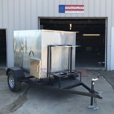 Insulated 48 X 48 Rotisserie Smoker W Trailer - Call Before You Buy