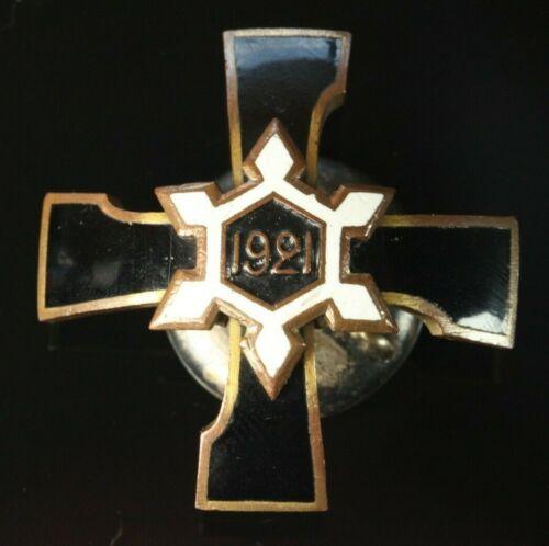 RARE Orig. Latvia 1920-s Engineer-sapper regiment Breast Badge #1143