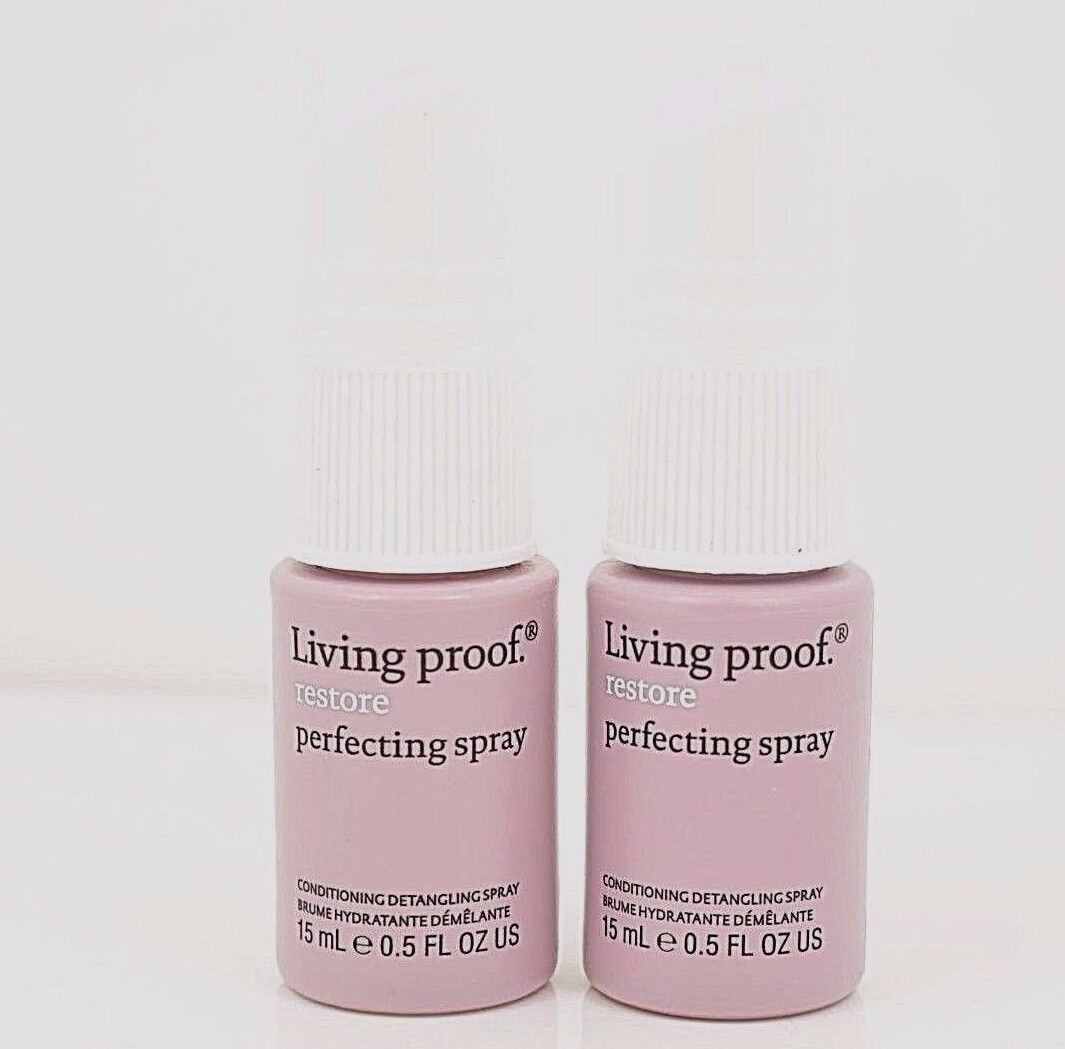 2 Living Proof Restore Perfecting Hair Spray New Travel Size