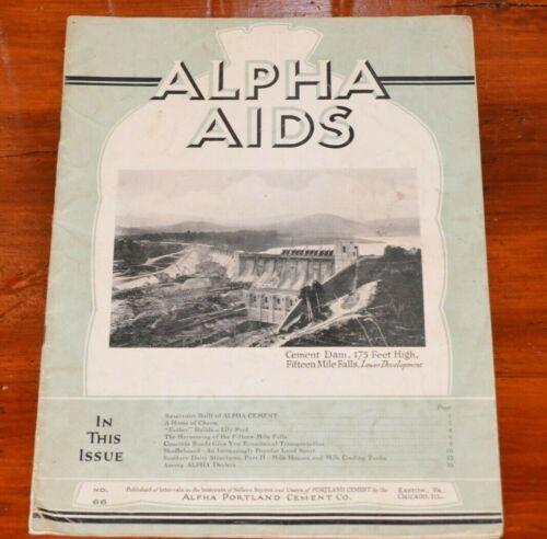 Alpha Aids Portland Cement Co 1930s magazine Shuffleboard Dairy Structure Plans