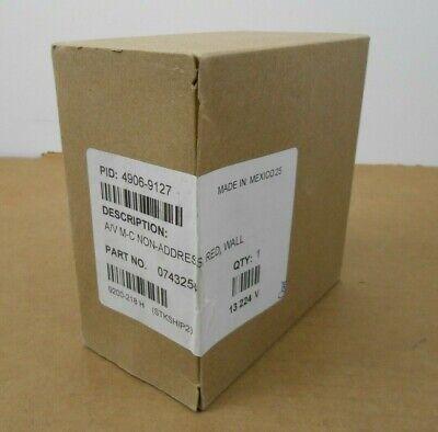1 Nib Simplex 4906-9127 49069127 Horn Strobe Red Wall Av M-c Non-addressable