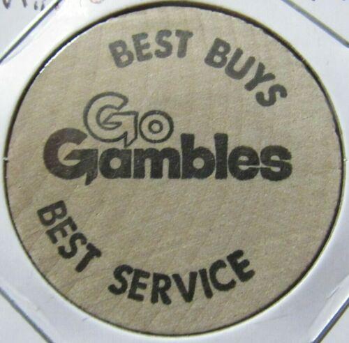 Vintage Gambles Minneapolis, MN Wooden Nickel - Token Minnesota