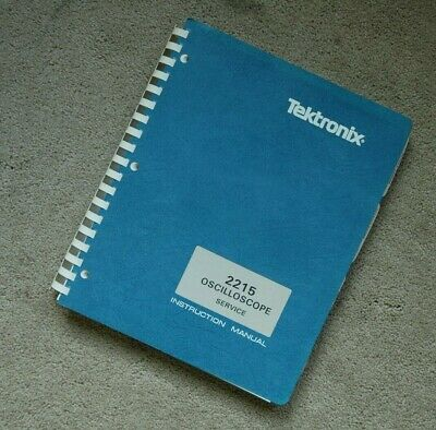 Tektronix 2215 Original Service Manual With All Schematic. Parts 070-3826-00