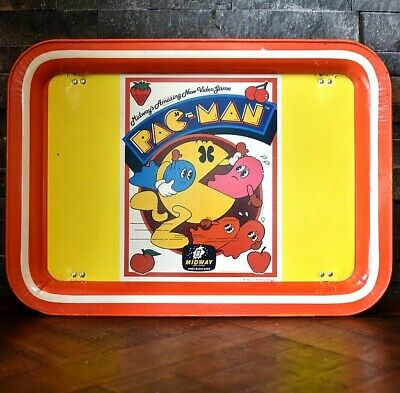 VINTAGE TV TRAY foldout Legs MIDWAY PAC-MAN video game 1980 Nice M27