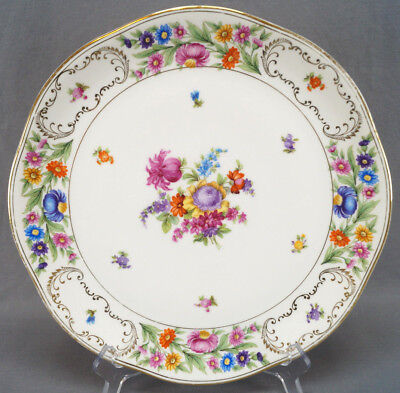 Vintage Schumann Dresden Style Royal Germany Floral & Gilt 12 Inch Charger