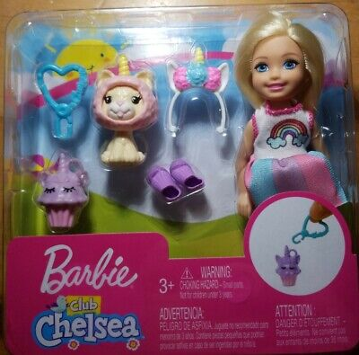 Barbie Club Chelsea Dress-Up Doll in Unicorn Costume with Accessories,...