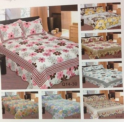 Reversible Quilt Bedspread set w/Pillow Sham(s) Full/Queen, King, Cal-King, Twin Complete King Pillow Set