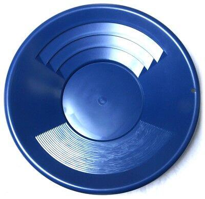 Goldwaschpfanne SE Gold Pan 14'' - 35 cm blau Kunststoff Goldwaschen Waschpfanne Gold Pan