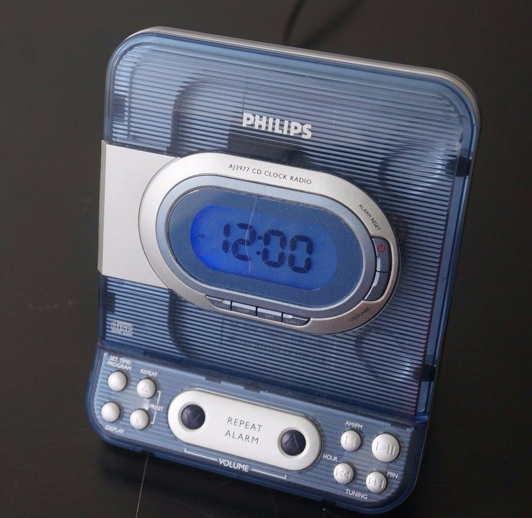 AM/FM, Alarm, Clock Radio, CD Player, AJ3977 For Parts As Is