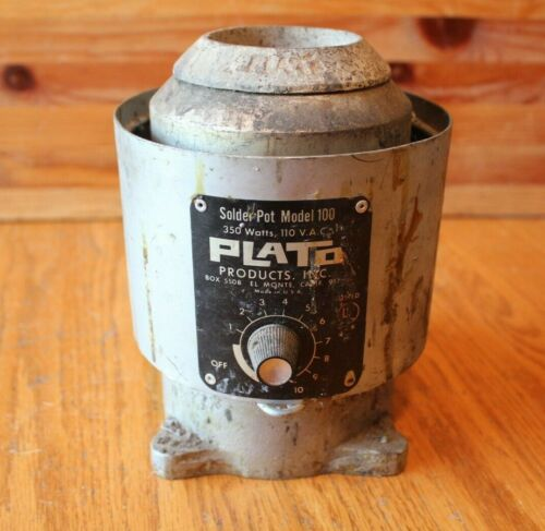PLATO Solder Pot Model 100 350 watts 110 VAC Vintage Soldering Smelting tool