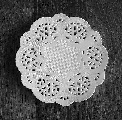 50 Papierdeckchen weiß 10 cm Doilies Papierspitzen Deckchen Tortenspitzen