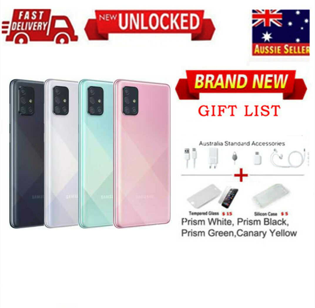 """Android Phone - New 6.7"""" Unlocked Factory Samsung Galaxy A71(SM-A715F/DS) Dual SIM AU STOCK"""