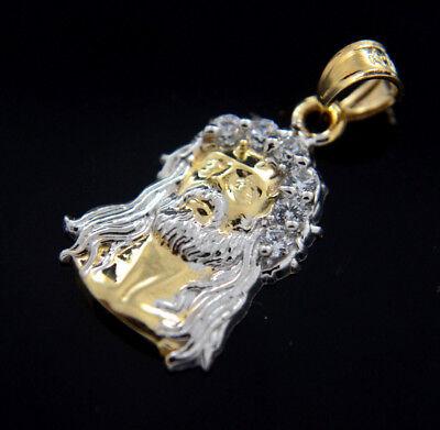 Gold Jesus Christ Charm (New 14k Gold Jesus Pendant Christ Charm Necklace Divino Rostro Medalla Oro)