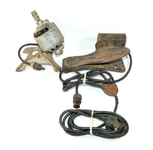 Antique Vtg Hamilton Beach Sewing Machine Home Motor & Footed Pedal AS IS