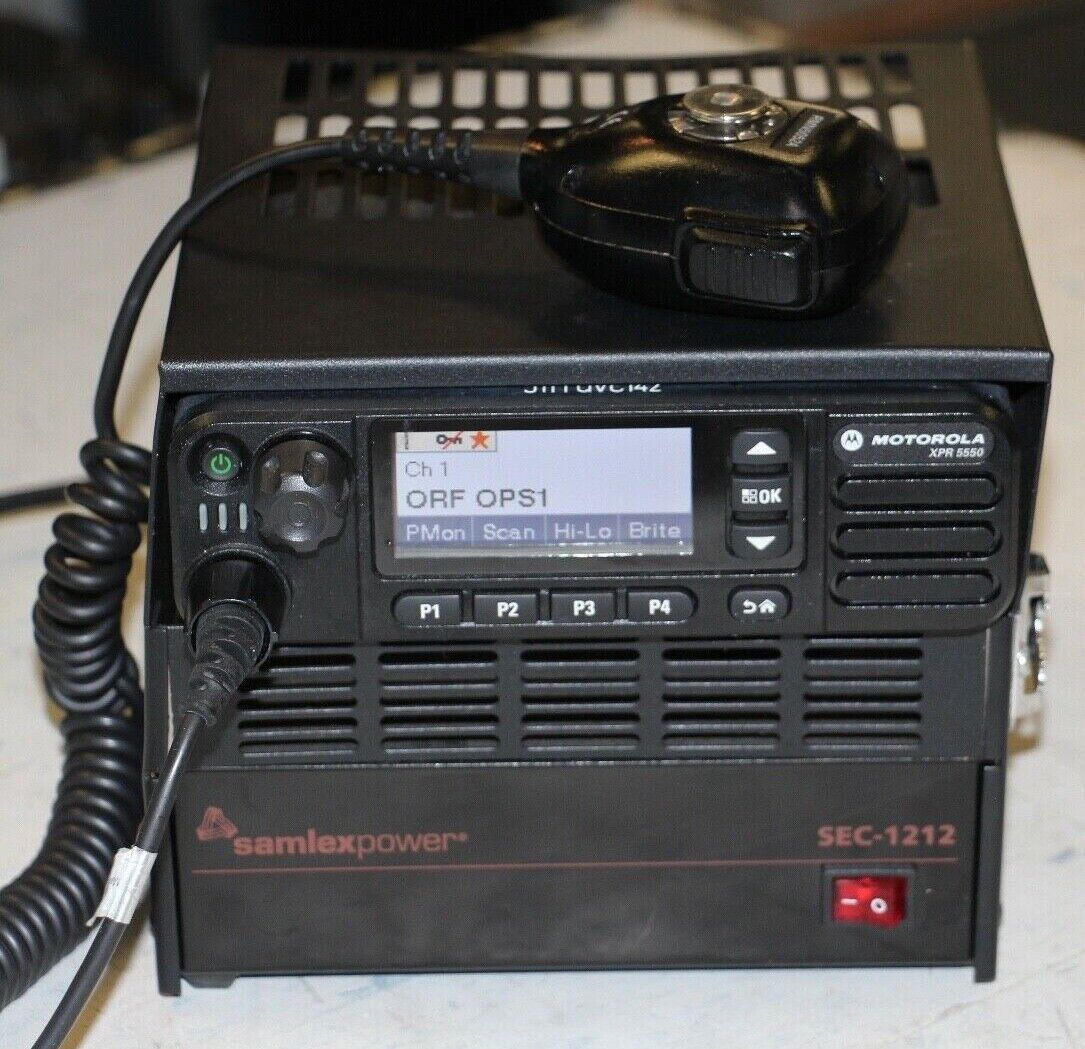 Motorola XPR 5550 Radio with Samlex SEC-1212 Power Supply •Free Shipping•. Buy it now for 399.99