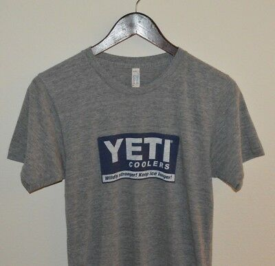 Mens Yeti Coolers Classic Logo Tri-Blend T-Shirt size Small  Logo Small Cooler