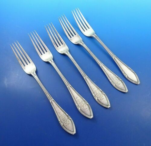5 Russian 84 Silver Dinner Forks by I.P Klebnikor (#4036)