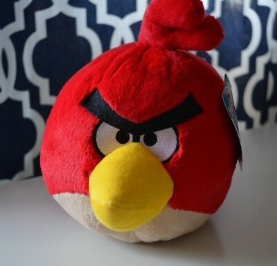 Angry Birds 8In  Deluxe Plush Red Bird