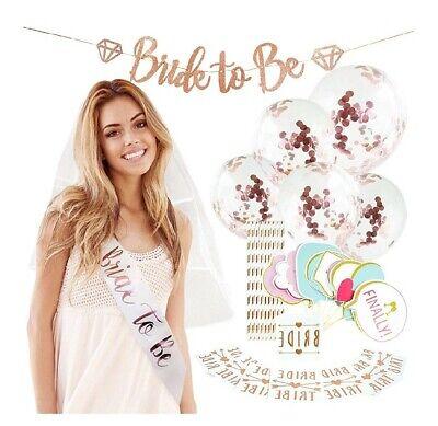 Rose Gold Bridal Shower Decorations 45PCS bachelorette kit, Bride To Be Banner](Bachelorette Kit)