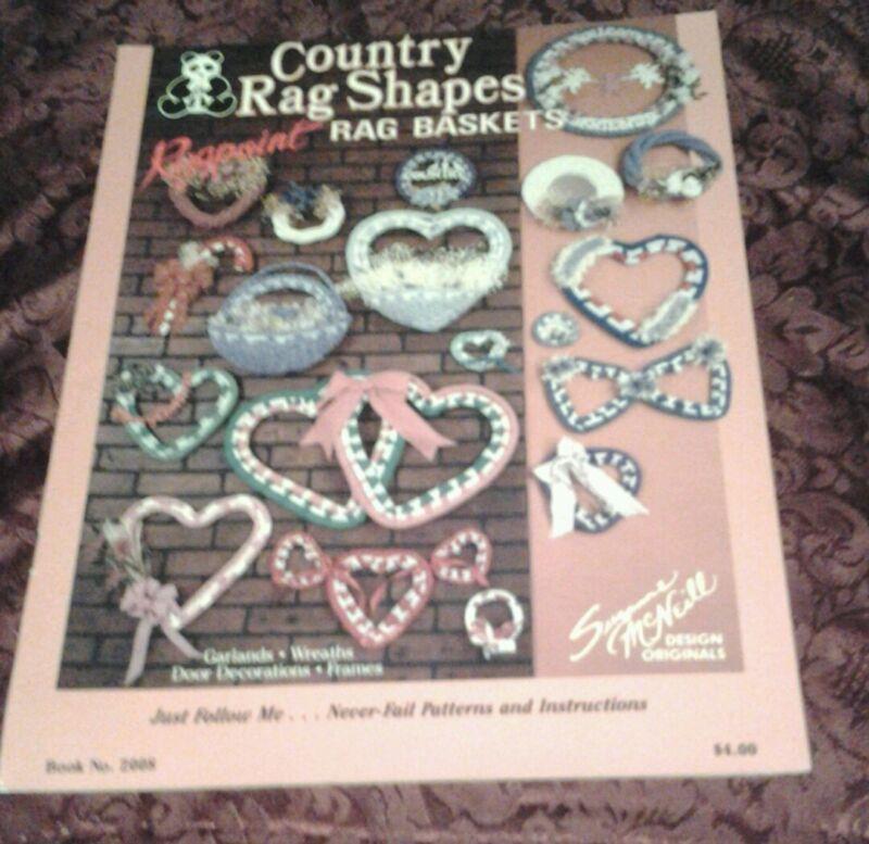 Country Rag Shapes Rag Baskets Garlands , Wreaths , Frames