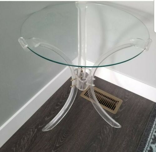 Vintage MidCentury Acrylic Lucite Hollywood Regency End Table Rare  - $274.99