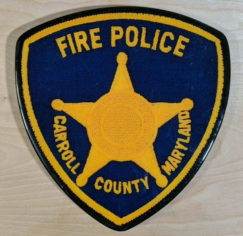 Carroll County Maryland Fire Police Routed Wood Patch Plaque