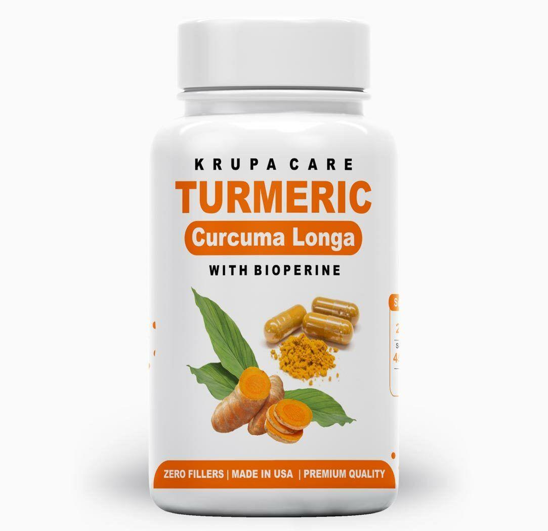 Krupacare Organic Turmeric Curcumin 500mg with Bioperine 90