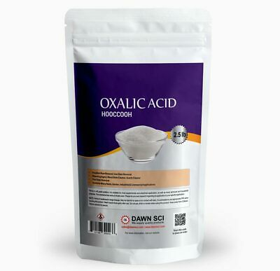 Oxalic Acid -pure 99.8 Fine Powder 2.5 Lb Ships Fast From Usa