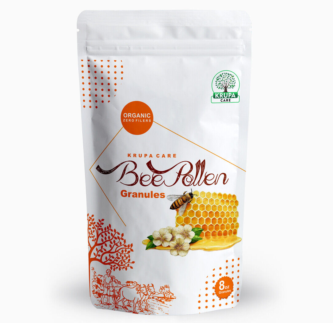 Krupacare  BEE POLLEN GRANULES Fresh Pure 100% Natural Raw Flower 4, 8 Oz 1 lb