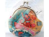 Dynasty Dumpling Kisslock Purse-Sailing GELDBEUTEL Wallet neu Purse retro cute