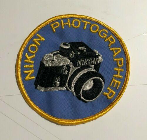 """Nikon F2 Photomic Patch - Vintage - Sew on - Unused - Rare - 4"""" round - EX+"""