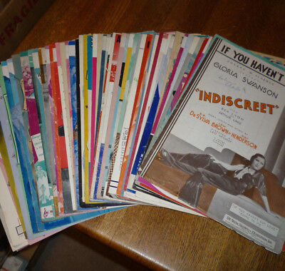 *<* CHECK OUT THIS $350 LOT: 60 MOVIE SHEET MUSIC at a BARGAIN PRICE! ALL LISTED