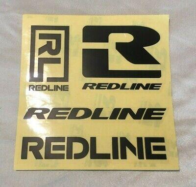 Old school bmx Redline Techmatic black decal set