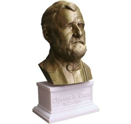 Ulysses S. Grant 12 inch 3D Printed Bust US President #18 Art FREE SHIPPING