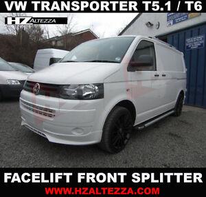Vw Transporter T5 2010 Facelift Front Bumper Lip Splitter Ebay