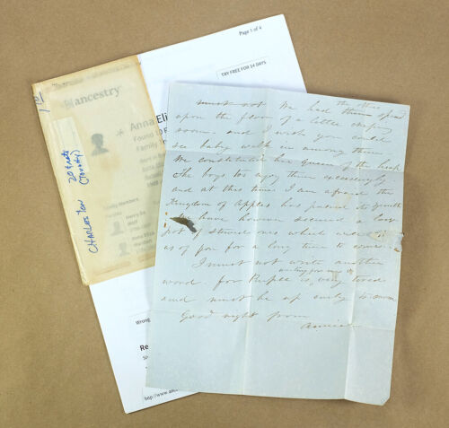 1840s Antique Letter Wife of Nathaniel Russell Middleton SC State Representative