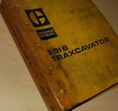 Cat Caterpillar 951b Traxcavator Service Manual Repair Shop Track Crawler Loader