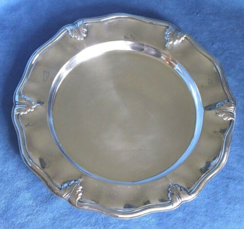 Antique Italian Rococo Sea Shell 444 Grams 800 Sterling Silver Sandwich Plate