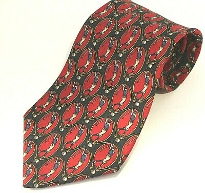 Tommy Hilfiger Tie Golf theme Italian Silk Made in USA 59