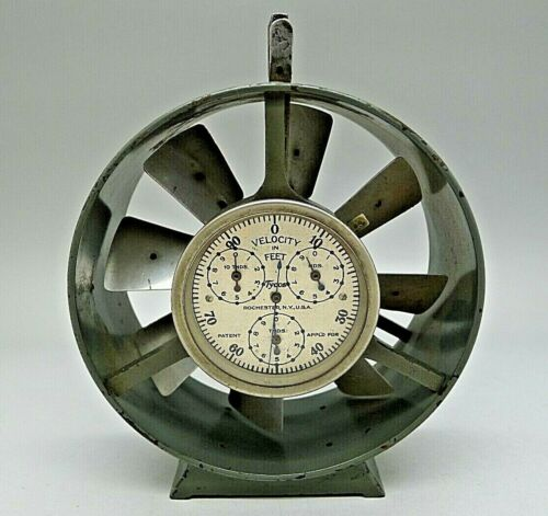 Vintage Tycos Working Anemometer Jeweled 4 Meters Fine Instrument None like it