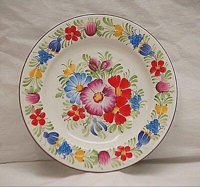 "Old Vintage Hand Painted Chodovia Czech 7"" Salad Plate Ceramic Art Pottery"
