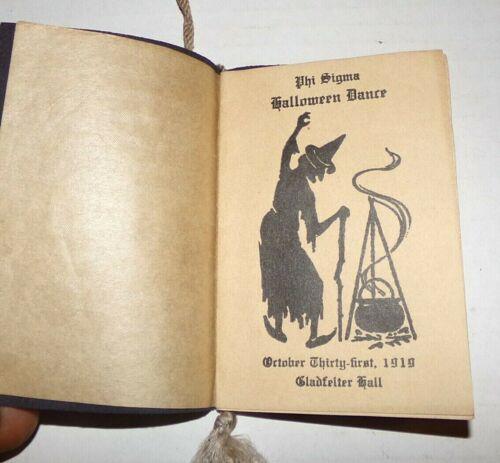 1919 Halloween Dance Card Phi Sigma Party Gladfelter Hall Gettysburg College